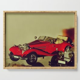 Vintage scale-model car collection - Nostalgic Photography Serving Tray