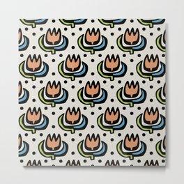 Lily Pattern Metal Print
