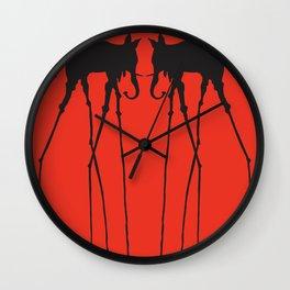 Salvador Dali Elephants Wall Clock