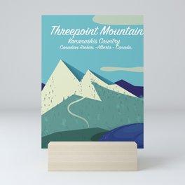 Threepoint Mountain Canada travel poster. Mini Art Print