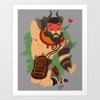 Beastmaster Art Print