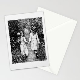 Sisters Walking In an Enchanted Forest Stationery Cards