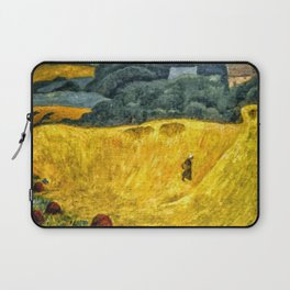 Fields of Gold, Tuscany, Italy landscape by Paul Serusier Laptop Sleeve