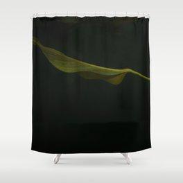 Leafing Through Darkness Shower Curtain