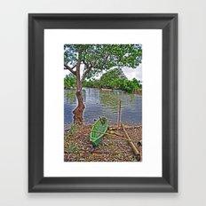 The fishing boat Framed Art Print