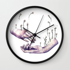 I hope one day you find someone who makes flowers grow in even the saddest parts of you Wall Clock