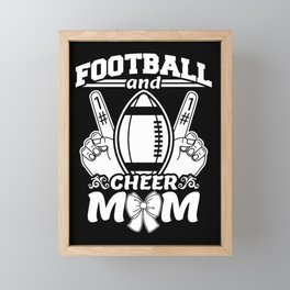 Funny Football And Cheer Mom Framed Mini Art Print