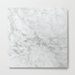 White Marble #629 Metal Print