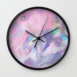 Soft Color Mermaid Style Wall Clock