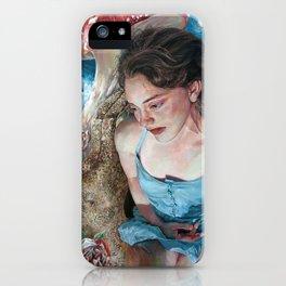 Alice in Wonderland, Portrait of Alice iPhone Case