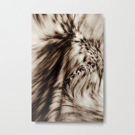 Swerve (Brown) Metal Print