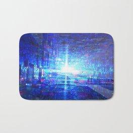 Blue Reflecting Tunnel Bath Mat