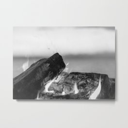 Summer Seaside Fires Metal Print