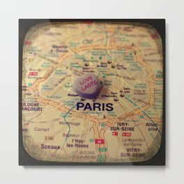 Love Lasts Paris Metal Print