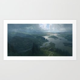 Arkham Art Print