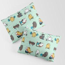 Leg Day with Persian Cat Pillow Sham