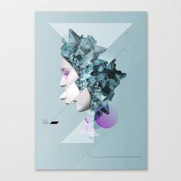 Faces Blue 02 Canvas Print
