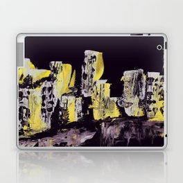 Yellow Purple Cityscape Laptop & iPad Skin