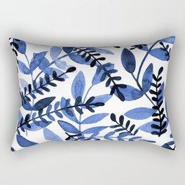 Watercolor branches - blue Rectangular Pillow