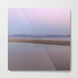 Pink sunset. Serenity beach Metal Print
