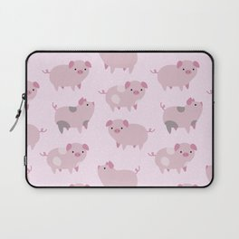 Cute Pink Piglets Pattern Laptop Sleeve