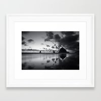 racing Framed Art Prints featuring Racing Sky by Cameron Booth
