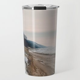 Winter Shoreline Travel Mug
