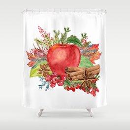 Apple Bouquet Shower Curtain
