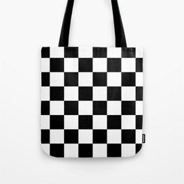 Black & White Checkered Pattern Tote Bag