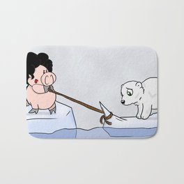 Saving the polar bears Bath Mat