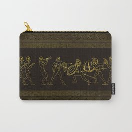 Ancient Sparta  Greece scene on greek pattern Carry-All Pouch