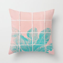 Blue Banana Plant Throw Pillow