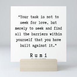 1 | Rumi Quotes  | 190921 Mini Art Print