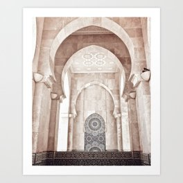 Moroccan archway Art Print