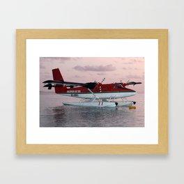 Sea Plane in twighlight Framed Art Print