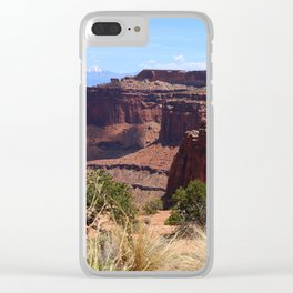 Shafer Canyon Overlook Clear iPhone Case
