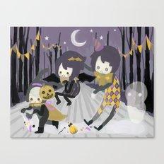 Halloween Walk Canvas Print