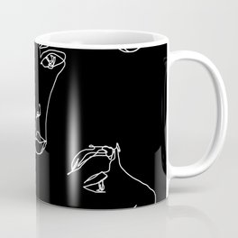 Faces one line illustration - Cyra Coffee Mug