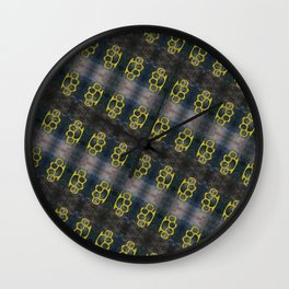 Brass Knuckles Pattern Wall Clock