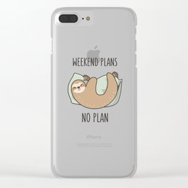 Weekend Plans Clear iPhone Case