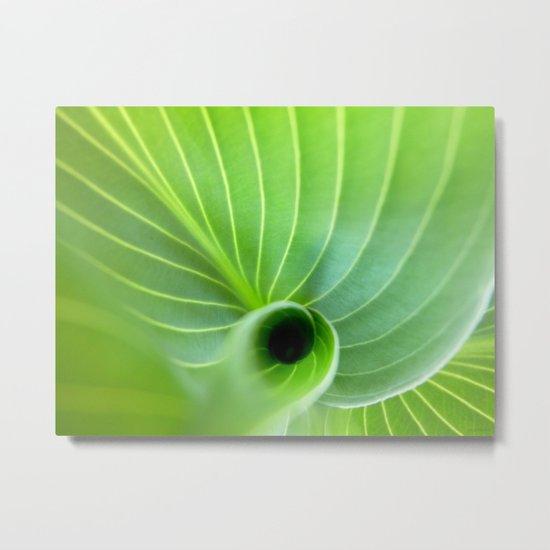 Green Swirl Metal Print