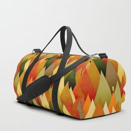 071 – deep into the autumn forest texture II Duffle Bag