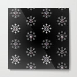 Eye Of Dandelion Pattern Metal Print