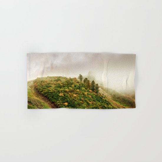 Autumn valley in the cloud Hand & Bath Towel