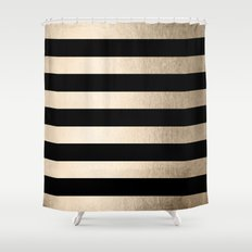 Black White Gold Shower Curtain Black White Gold Glitter