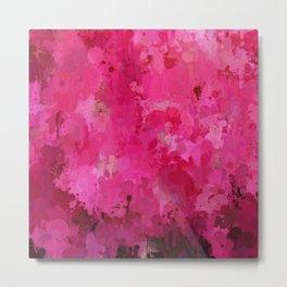 Splashes of Color, hot pink Metal Print