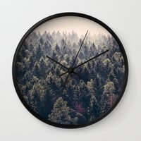 marina and the diamonds Wall Clocks featuring Come Home by Tordis Kayma