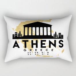 ATHENS GREECE SILHOUETTE SKYLINE MAP ART Rectangular Pillow