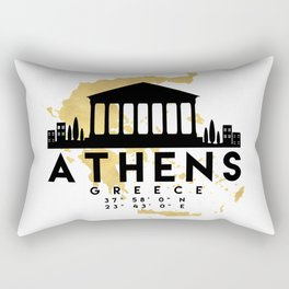 ATHENS GREECE SILHOUETTE SKYLINE MAP ART Rectangular Pillow