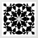 Black and white flower mandala mosaic by pldesign